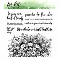 Picket Fence Studios - Clear Photopolymer Stamps - Let's Shake Our Tail Feathers