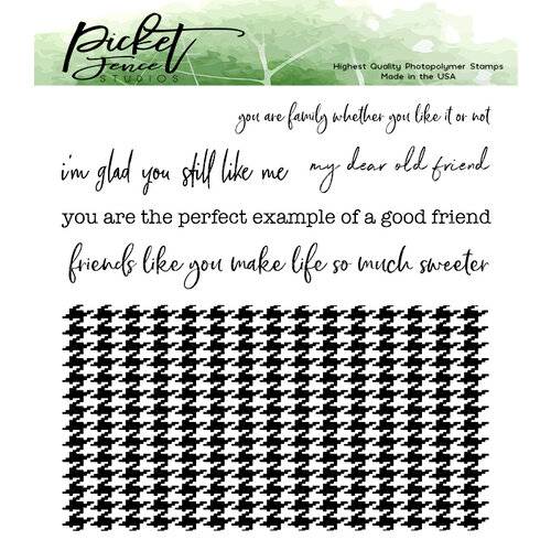 Picket Fence Studios - Clear Photopolymer Stamps - Classic Houndstooth