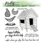Picket Fence Studios - Clear Photopolymer Stamps - The Hen House