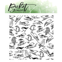 Picket Fence Studios - Clear Photopolymer Stamps - Collage of Birds