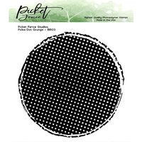 Picket Fence Studios - Clear Photopolymer Stamps - Polka Dot Grunge