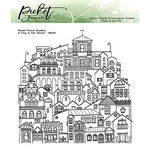 Picket Fence Studios - Clear Photopolymer Stamps - A City in the World