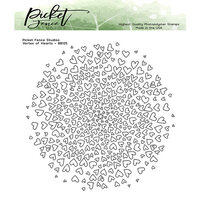 Picket Fence Studios - Clear Photopolymer Stamps - Vortex of Hearts
