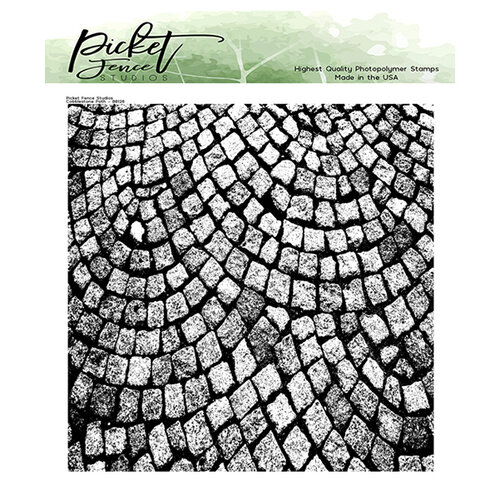 Picket Fence Studios - Clear Photopolymer Stamps - Cobblestone Path