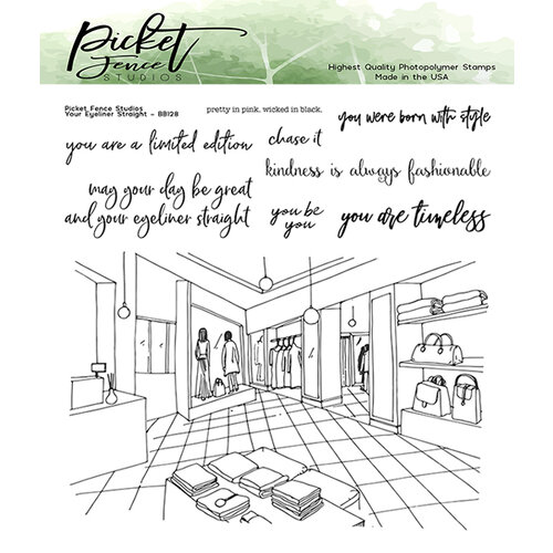 Picket Fence Studios - Clear Photopolymer Stamps - Your Eyeliner Straight