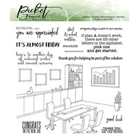 Picket Fence Studios - Clear Photopolymer Stamps - Here Is Where I Work