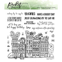 Picket Fence Studios - Clear Photopolymer Stamps - Bugville