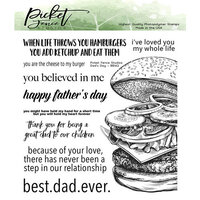 Picket Fence Studios - Clear Photopolymer Stamps - Dad's Day