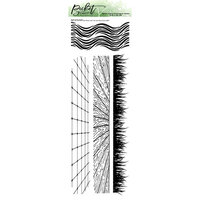 Picket Fence Studios - Clear Photopolymer Stamps - Slimline - Grass and Waves with Tile and Wood Floor