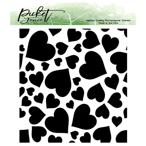 Picket Fence Studios - Clear Photopolymer Stamps - Falling Hearts