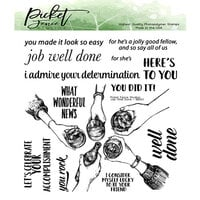 Picket Fence Studios - Clear Photopolymer Stamps - Job Well Done