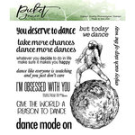 Picket Fence Studios - Clear Photopolymer Stamps - Dance Mode On