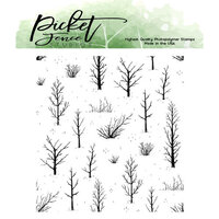 Picket Fence Studios - Clear Photopolymer Stamps - Autumn Field