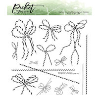 Picket Fence Studios - Clear Photopolymer Stamps - Handmade Twine Bows