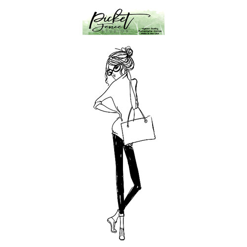 Picket Fence Studios - Clear Photopolymer Stamps - BFF Girl Ava