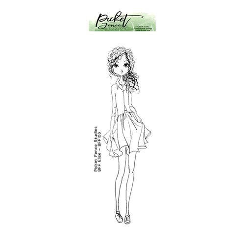 Picket Fence Studios - Clear Photopolymer Stamps - BFF Elise Girl