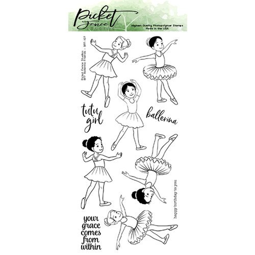 Picket Fence Studios - Clear Photopolymer Stamps - BFF Ballerina Friends