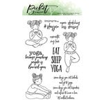 Picket Fence Studios - Clear Photopolymer Stamps - Eat Sleep Yoga