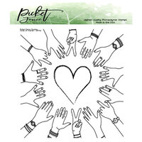 Picket Fence Studios - Clear Photopolymer Stamps - BFF Circle of Friends