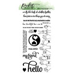 Picket Fence Studios - Clear Photopolymer Stamps - BFF Favorite Hero