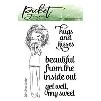 Picket Fence Studios - Clear Photopolymer Stamps - BFF Livi Girl