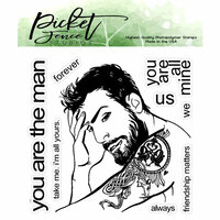 Picket Fence Studios - Clear Photopolymer Stamps - You are the Man
