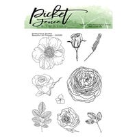 Picket Fence Studios - Clear Photopolymer Stamps - Beautiful Girl Flowers