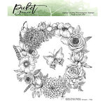 Picket Fence Studios - Clear Photopolymer Stamps - Beautiful Girls Flower Wreath