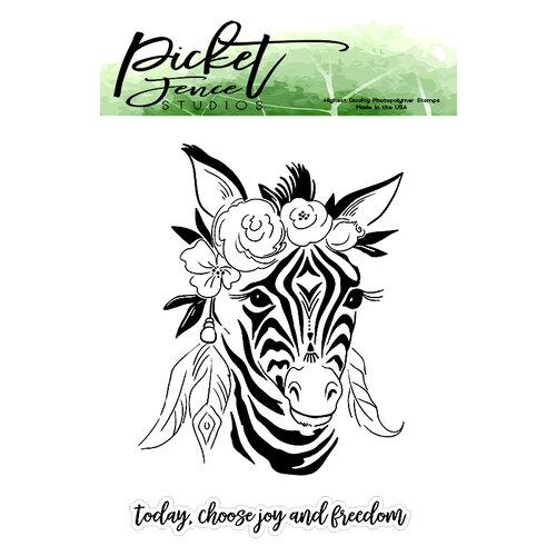 Picket Fence Studios - Clear Photopolymer Stamps - Boho Zebra