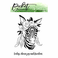 Picket Fence Studios - Clear Photopolymer Stamps - Boho Zebra