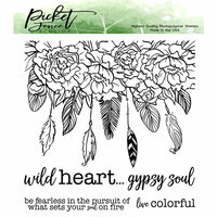 Picket Fence Studios - Clear Photopolymer Stamps - Wild Heart Gypsy Soul