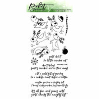 Picket Fence Studios - Clear Photopolymer Stamps - Santa's Sleigh Ride