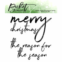 Picket Fence Studios - Clear Photopolymer Stamps - Merry Christmas