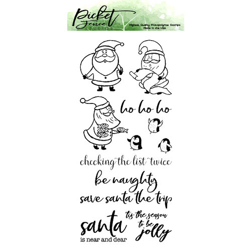 Picket Fence Studios - Clear Photopolymer Stamps - Santa Mischief