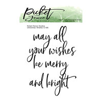 Picket Fence Studios - Clear Photopolymer Stamps - Christmas Wishes