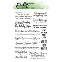 Picket Fence Studios - Clear Photopolymer Stamps - Inside Quotes - Christmas