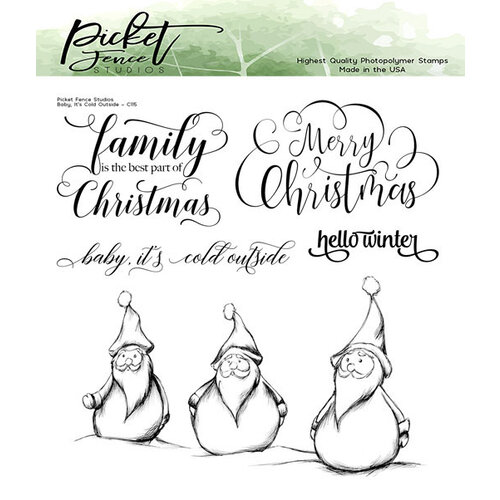 Picket Fence Studios - Clear Photopolymer Stamps - Baby, It's Cold Outside