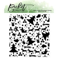Picket Fence Studios - Clear Photopolymer Stamps - Happy Holidays Menagerie