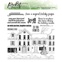 Picket Fence Studios - Clear Photopolymer Stamps - Winter Has Come to Town