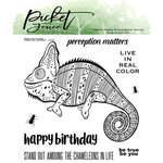 Picket Fence Studios - Clear Photopolymer Stamps - Charles The Chameleon