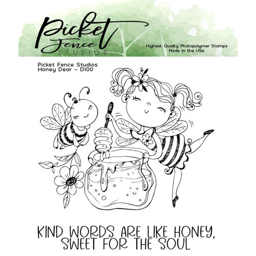 Picket Fence Studios - Clear Photopolymer Stamps - Honey Dear