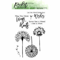 Picket Fence Studios - Clear Photopolymer Stamps - Dandelion Wishes