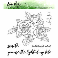 Picket Fence Studios - Clear Photopolymer Stamps - Rose Bouquet