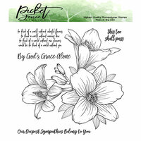 Picket Fence Studios - Clear Photopolymer Stamps - Lilly Bouquet