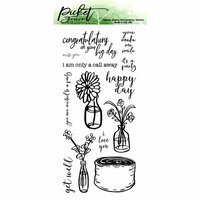 Picket Fence Studios - Clear Photopolymer Stamps - Rustic Floral