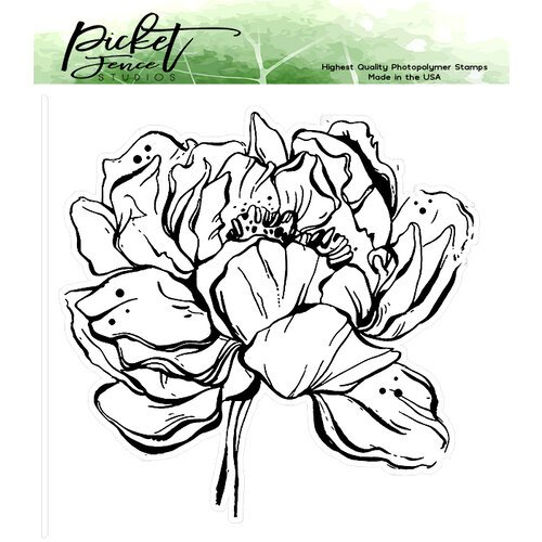 Picket Fence Studios - Clear Photopolymer Stamps - Botan Peony