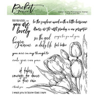 Picket Fence Studios - Clear Photopolymer Stamps - Early Tulip Bouquet