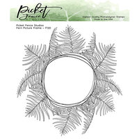 Picket Fence Studios - Clear Photopolymer Stamps - Fern Picture Frame