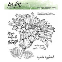 Picket Fence Studios - Clear Photopolymer Stamps - Barberton Daisy