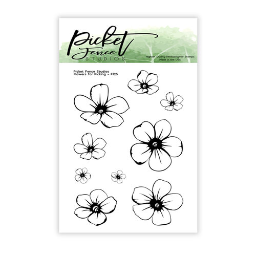 Picket Fence Studios - Clear Photopolymer Stamps - Flowers for Picking